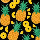 Pineapples Seat or Pillow Top X-Stitch or Needlepoint pattern chart graph
