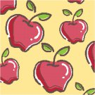 Apples Seat or Pillow Top X-Stitch or Needlepoint pattern chart graph