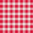 Red and White Checks Seat or Pillow Top X-Stitch or Needlepoint pattern chart graph