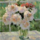 Monet's Peonies Pattern Chart Graph
