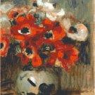 Renoir's Anemonies 1905 Pattern Chart Graph