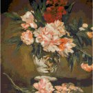 Vase of Peonies by Renoir Pattern Chart Graph
