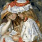 Two Sisters Reading 1890 by Renoir Pattern Chart Graph