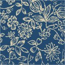 Flowered Toile Seat-Pillow Top X-Stitch or Needlepoint pattern chart graph
