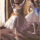 Two Dancers in the Studio by Edgar Degas Pattern Chart Graph