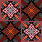 Seeing Stars Seat-Pillow Top X-Stitch or Needlepoint pattern chart graph