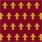 Fleur de Lis 2 Seat or Pillow Top Seat or Pillow X-Stitch or Needlepoint pattern chart graph