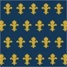Fleur de Lis 1 Seat or Pillow Top X-Stitch or Needlepoint pattern chart graph