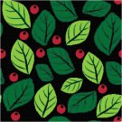 Christmas Berries and Leaves Star or Pillow Top X-Stitch or Needlepoint pattern chart graph
