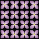 Violets Seat or Pillow Top X-Stitch or Needlepoint pattern chart graph