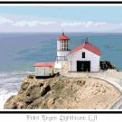 Point Reyes Lighthouse, CA Pattern Chart Graph