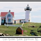 "Cape Neddick ""Nubble"" Lighthouse, ME Pattern Chart Graph"