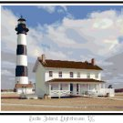 Bodie Island Lighthouse, NC Pattern Chart Graph