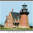 Block Island Lighthouse, RI Pattern Chart Graph