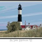 Big Sable Lighthouse, MI Pattern Chart Graph