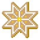 Christmas Cookie Star quick and easy Pattern Chart Graph