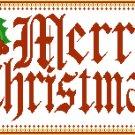 Merry Christmas Banner 1 Pattern Chart Graph