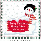 Merry Christmas Snowman Pattern Chart Graph