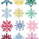Snowflake Ornament Set quick and easy Pattern Chart Graph