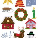 Christmas Ornaments Set 2 quick and easy Pattern Chart Graph