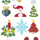 Christmas Ornament Set 1 quick and easy Pattern Chart Graph