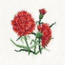 """""""CARNATIONS"""" Finished Completed Counted Cross Stitchery"""