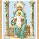 Regal Madonna and Child Cross Stitch Pattern Chart Graph