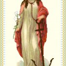 St. Philomena Cross Stitch Pattern Chart Graph