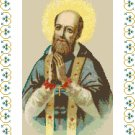 St. Francis de Sales Cross Stitch Pattern Chart Graph