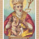 St. Blaise Cross Stitch Pattern Chart Graph