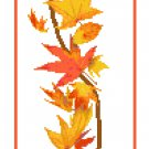 Autumn Banner Cross Stitch Pattern Chart Graph