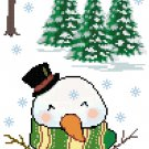Winter Banner Cross Stitch Pattern Chart Graph