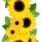 Sunflower Summer Banner Cross Stitch Pattern Chart Graph