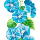 Morning Glory Bell Pull Cross Stitch Pattern Chart Graph