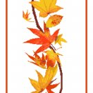Autumn Bell Pull Cross Stitch Pattern Chart Graph