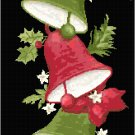 Christmas Bells and Mistletoe Bell Pull Cross Stitch Pattern Chart Graph