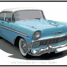 1956 Chevy Bel Air 4 Door Sedan Cross Stitch Pattern Chart Graph