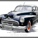 1947 Buick V8 Sedan Cross Stitch Pattern Chart Graph