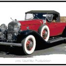1931 Cadillac Roadster Cross Stitch Pattern Chart Graph