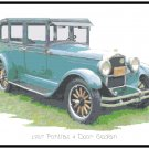 1927 Pontiac 4 Door Sedan Cross Stitch Pattern Chart Graph