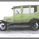 1927 Ford Model T Sedan Cross Stitch Pattern Chart Graph