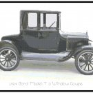 1924 Ford Model T 5 Window Coupe Cross Stitch Pattern Chart Graph