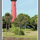 Jupiter Inlet Lighthouse, FL Pattern Chart Graph