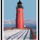 Milwaukee Pierhead Lighthouse, WI Pattern Chart Graph