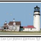 Cape Cod Highland Lighthouse, MA Pattern Chart Graph
