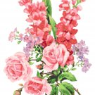 Gladiolus, Roses and Phlox Pattern Chart Graph