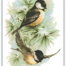 Black Capped Chickadees Pattern Chart Graph