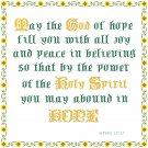 Hope - May The God Of Hope Pattern Chart Grapy