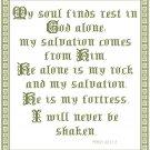 Rest - My Soul Finds Rest Pattern Chart Graph