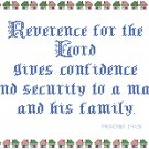 Confidence - Reverence For The Lord Pattern Chart Graph